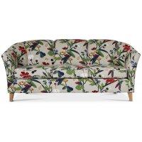 Gripsholm 3-sits soffa - Blommigt tyg