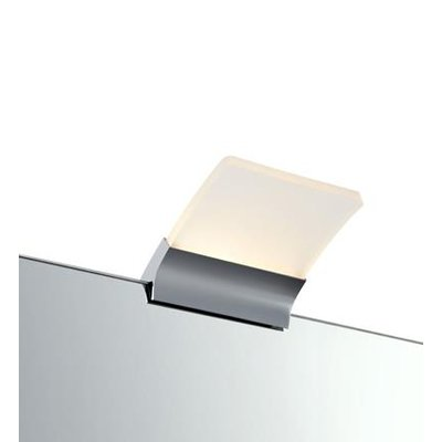 Metz Spegellampa - Krom/Frostat glas
