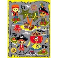 Barnmatta Pirat - Multi