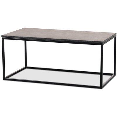 Granit soffbord 110x60 cm - Donau Granit & underrede accent i svart metall