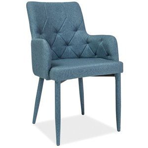 Jazmyn karmstol - Denimblå