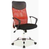 Laylah skrivbordsstol - Svart/röd