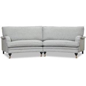 Howard 4-sits svängd soffa 295 cm - Grå