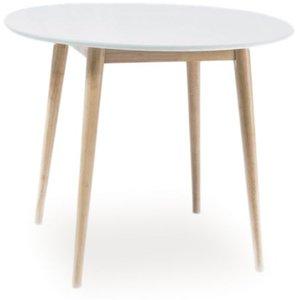 Desiree matbord 90 cm - Vit/Ek
