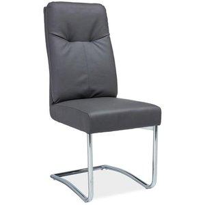 Jaelynn stol - Grå/krom