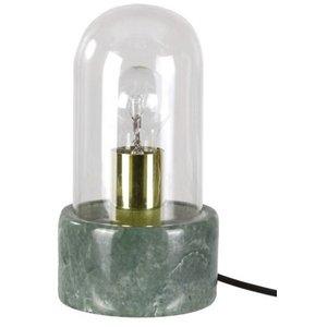Bordslampa Stenhaga - Grön marmor / Mässing