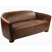 Corniche Vintage 2-sits lädersoffa