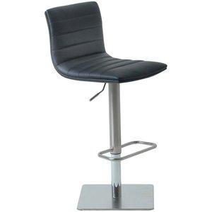 Timrå barstol - Svart/krom