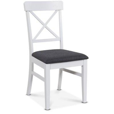 Elisa stol - Vit/grå