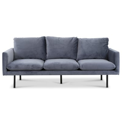 Carolina 3-sits soffa - Duvblå sammet