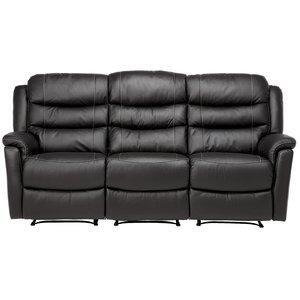 Chicago reclinersoffa 3-sits - svart skinn