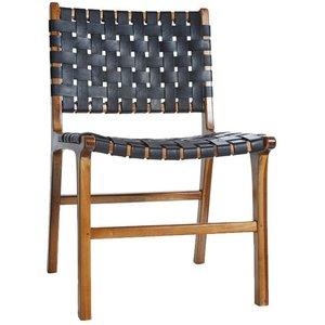 Porto stol - Svart / Teak