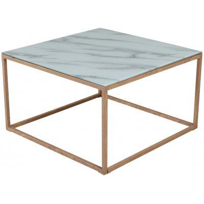 Link fyrkantigt soffbord med marmorerat glas - Ek-look