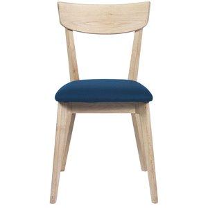 Kjell stol - Whitewash / Mörkblå