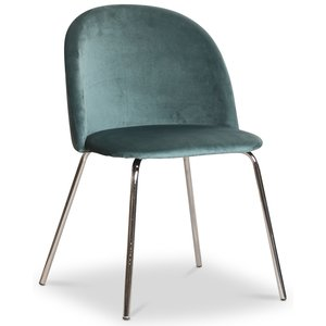 Giovani velvet stol - Antikgrön/Krom