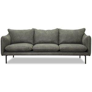 Björndal 3-sits soffa - Antracit ecoläder