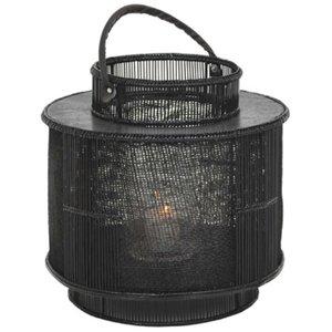 Royal lanterna ljuslykta - Skinnhandtag / Svart & 1890.00