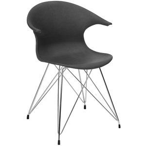 James stol - Svart/krom