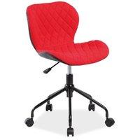 Krystal skrivbordsstol - Röd/svart