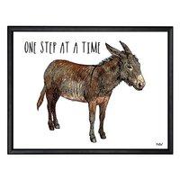 Tavla åsna - Svart ram