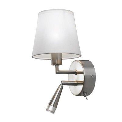 Bokholm Vägglampa - Stål/Vit