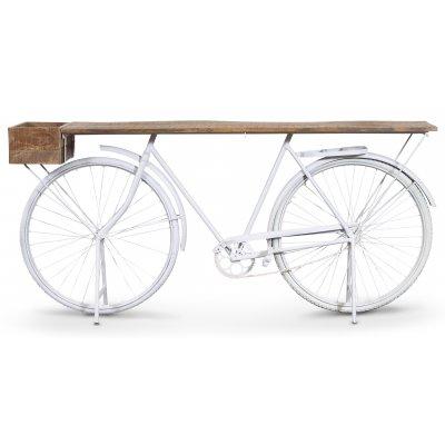Cykel barbord - Vit/mango