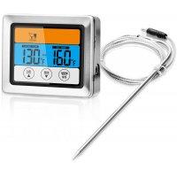 Basis stektermometer - Blank/svart