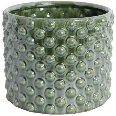 Kruka Bouble H23 cm - Grön (glansig)