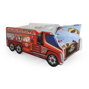 Brandbilen sängram - Röd