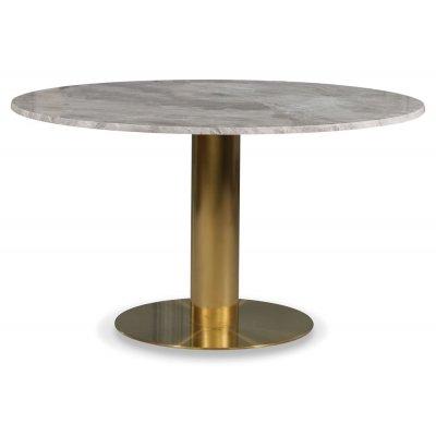 Empire matbord - Silver Diana marmor Ø130 cm / Borstad mässing
