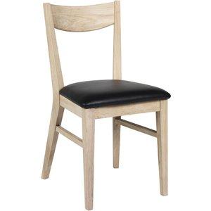 Kinley stol - Whitewash ek/svart konstläder