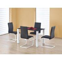 Amine matbord 120 cm - Vit/svart