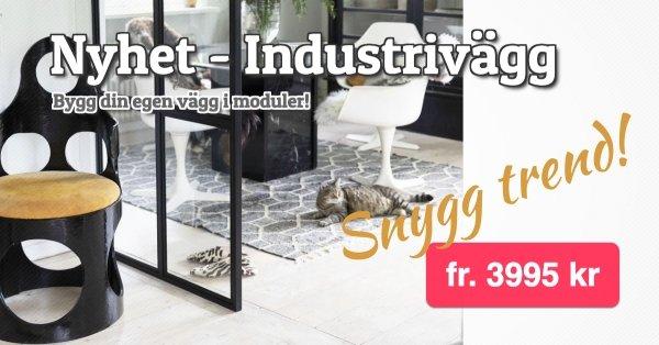 Industrivägg - Bygg din egen vägg i moduler!