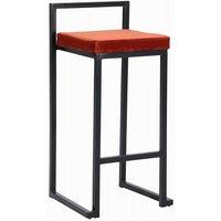 Simple barstol - Roströd/svart
