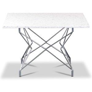 Terrazzo soffbord 75x75cm - Bianco Terrazzo & underrede Star krom & 3990.00