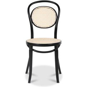 Böjträ stol No 10 Klassiker - Svart / Rotting