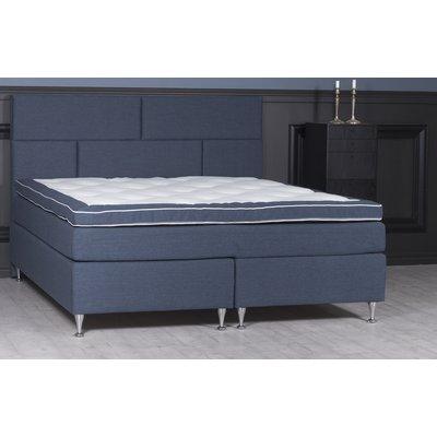 Ebony komplett sängpaket ink gavel 5-zons kontinentalsäng - Navy