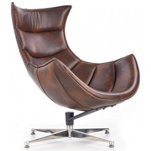 Ako designfåtölj i läder - Brunt läder