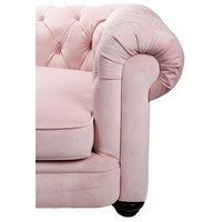 Chesterfield Sir Nelson XL 362 cm - Rosa sammet
