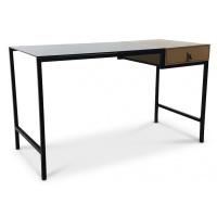 Stella skrivbord - Svart/Ek melamin