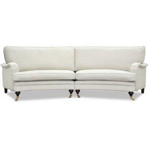 Howard 4-sits svängd soffa 295 cm - Ljusbeige