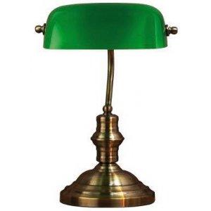 Bankers Bordslampa - 42 Oxide/Grön