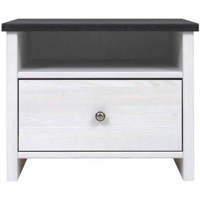 Salvador sängbord - Vit/svart