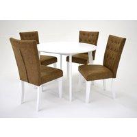 Sarek matgrupp - Bord inklusive 4 st Crocket stolar - Vit