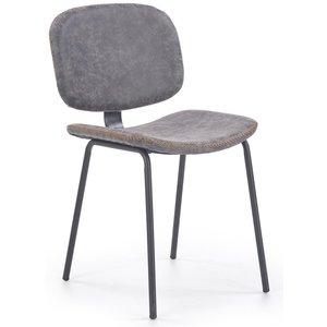 Kassy matstol - Gråbrun vintage PU