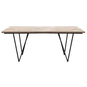 Tessa matbord 200 cm - Trä/metall