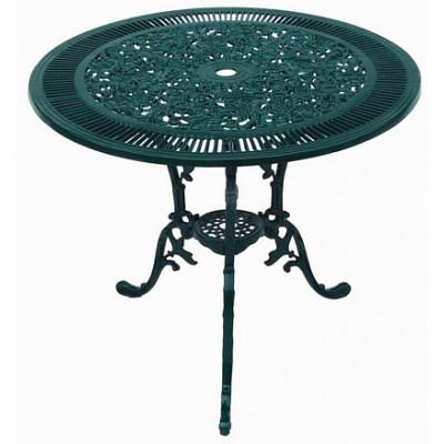 Alfon Cafébord i gjuten aluminium - Mörkgrön