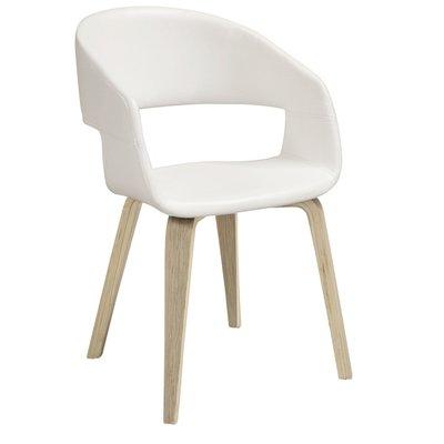 Nova matstol - Vit PU / Vitoljade träben