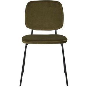 Cranston matstol - Grön sammet