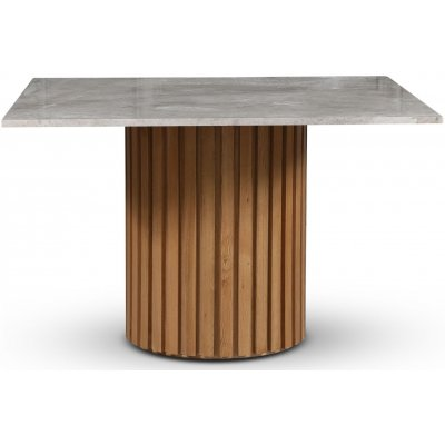 Sumo matbord 120x120 cm - Oljad ek / Silver marmor